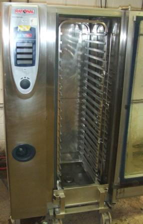 RATIONAL SCC Gas 20 Grid Combi Oven with Roll In Trolley