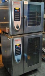 RATIONAL SCC 10 & 6 Grid Stacked Electric Combi Ovens