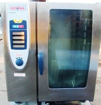 RATIONAL Self Cook Centre Gas 10 Grid  Combi Oven with  Floor Stand 1
