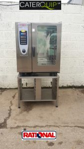 RATIONAL SCC  Electric10 Grid Combi Oven with Floor Stand