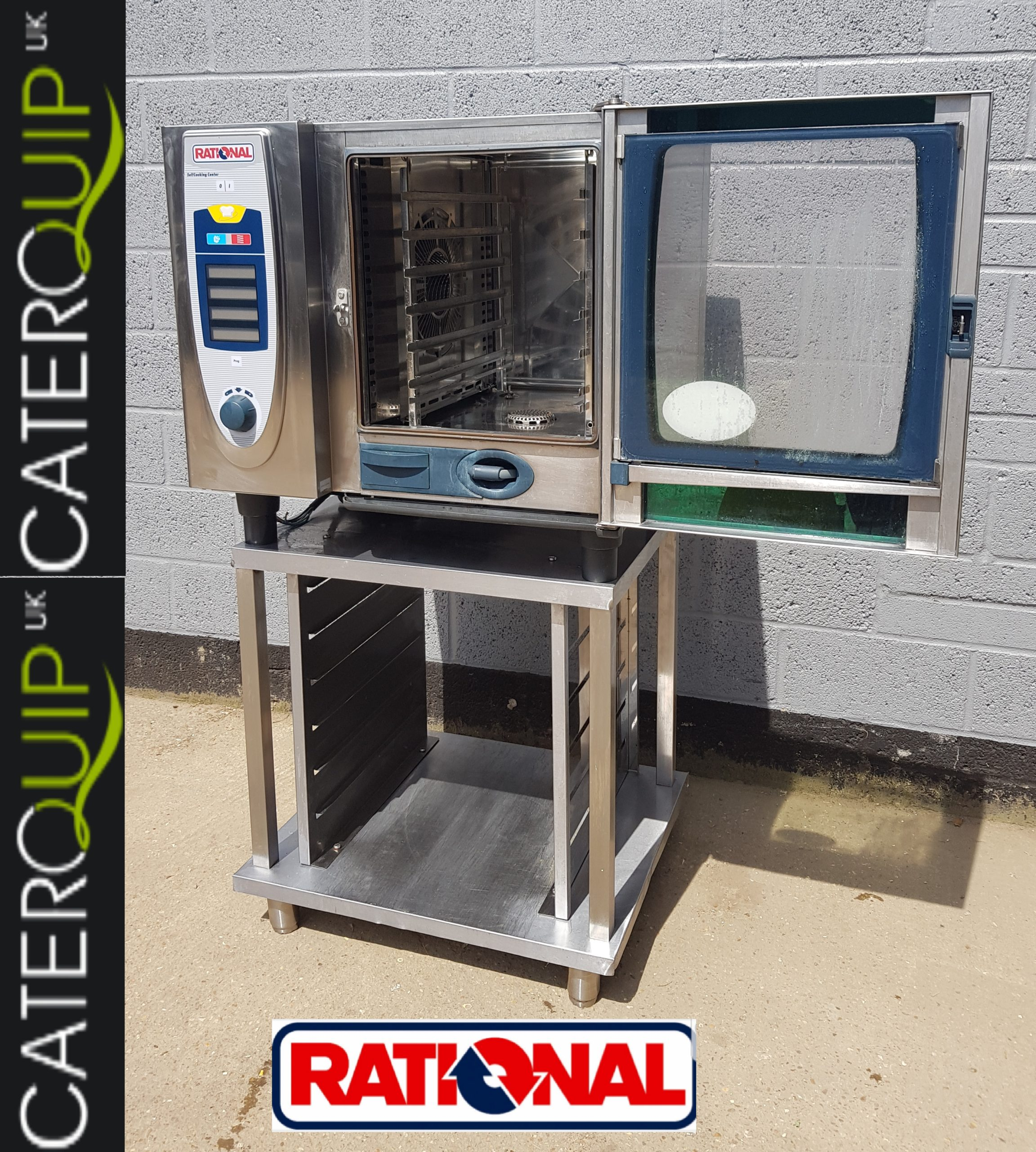 RATIONAL SCC Self Cook Centre Electric 6 Grid Combi Oven with Stand