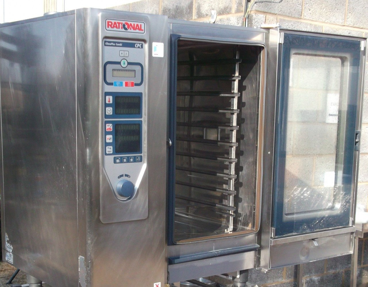 RATIONAL CPC Electric 10 Grid Combi Oven with Floor Stand