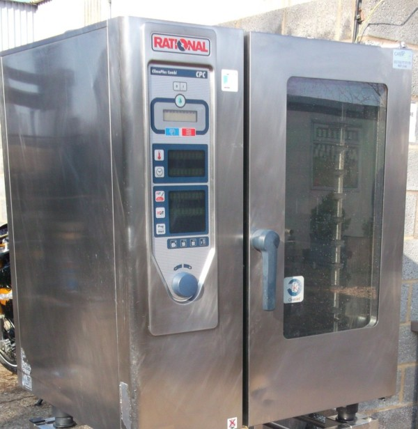 RATIONAL CPC Electric 10 Grid Combi Oven with Floor Stand 2
