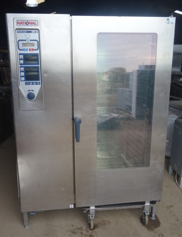 RATIONAL CPC G Gas 40 Grid Combi Oven with Trolley 1
