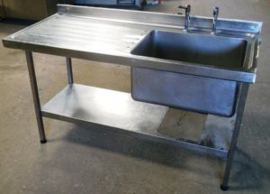 SISSONS 150cm Single Bowl Left Hand Drainer Sink