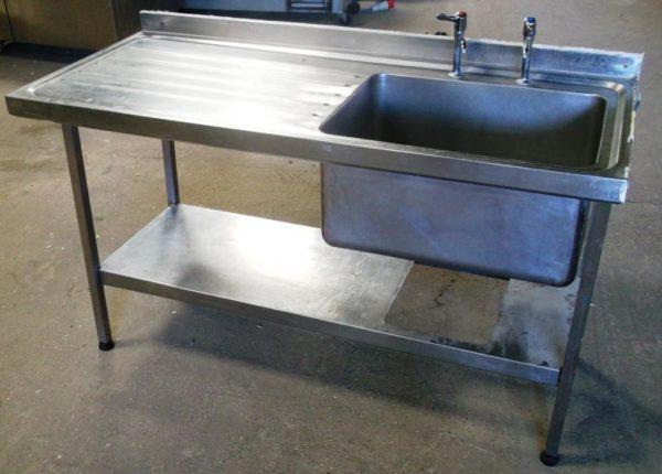 SISSONS 150cm Single Bowl Left Hand Drainer Sink 1