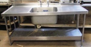 SISSONS 180cm Single Bowl Double Drainer Sink