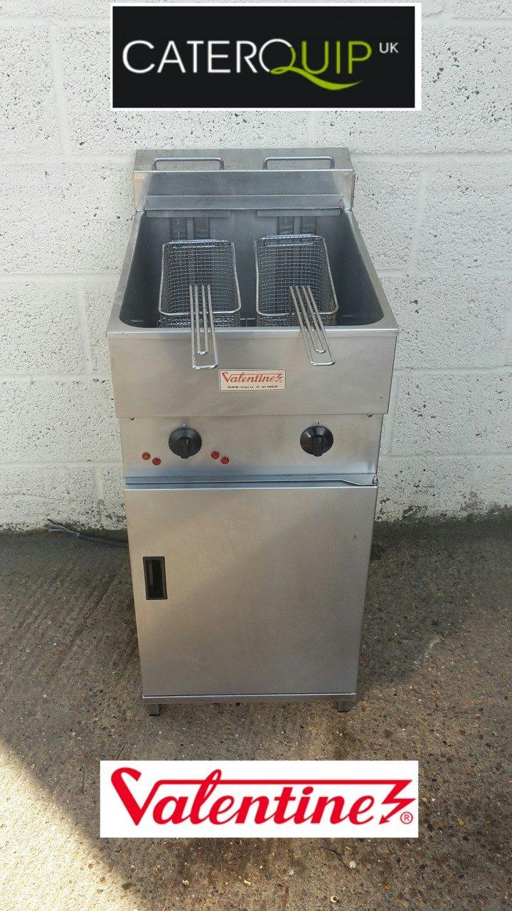 VALENTINE Single Well Twin Basket Electric Fryer