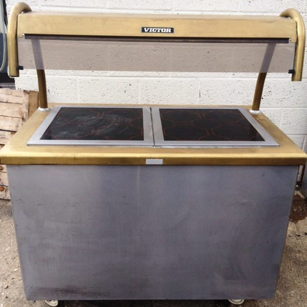VICTOR Glazed Ceramic Heated Servery with Hot Cupboard 1