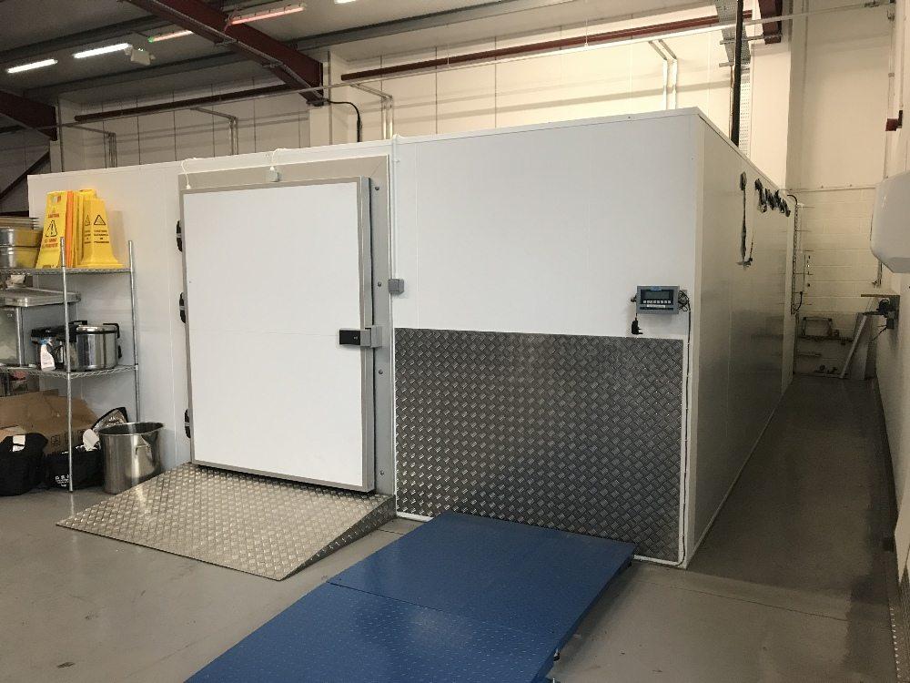 Walk In Freezer With Pallet Doorway W730cm X D550cm X