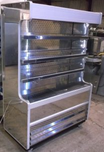IARP Stainless Steel Multideck Chilled Display with Night Curtain