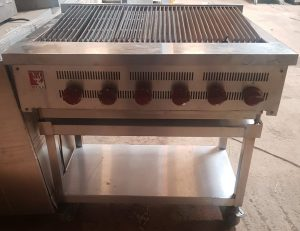 WOLF 6 Burner 90cm Gas Char Grill with Stand