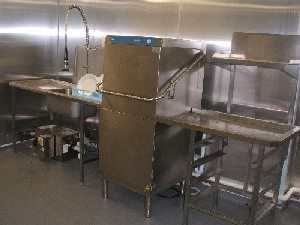 HOBART AMX Pass Through Dish Wash System with Sink and Outlet Drying Table 1
