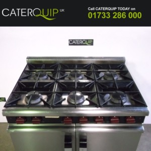 MOORWOOD VULCAN 6 Burner Gas Range with Double Oven.