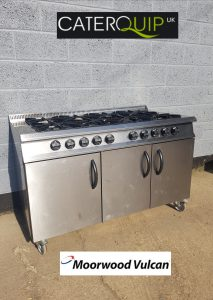 MOORWOOD VULCAN 8 Burner Gas Range with 2 Ovens
