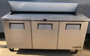 TRUE 3 Door Bench Saladette Fridge