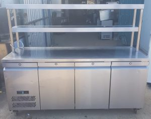 WILLIAMS 3 Door Bench Fridge with Double Ambient Gantry