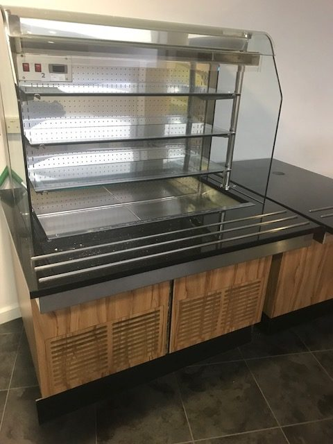 COUNTERLINE Designer Black Marble Chilled Reach In Servery – 3 available.