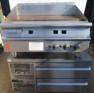 FALCON Gas Griddle with WILLIAMS 2 Drawer Chilled Chef Base