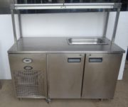 Foster 2 door bench fridge with gantry