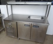 FOSTER 2 Door Bench Fridge with Ambient Gantry