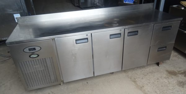 FOSTER 3 Door 2 Drawer Bench Fridge
