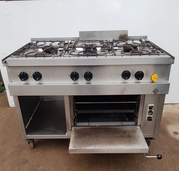 MKN Optima 850 6 Burner Range with Oven
