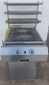 MKN Optima Gas Char Grill with Base & Cooked food hold