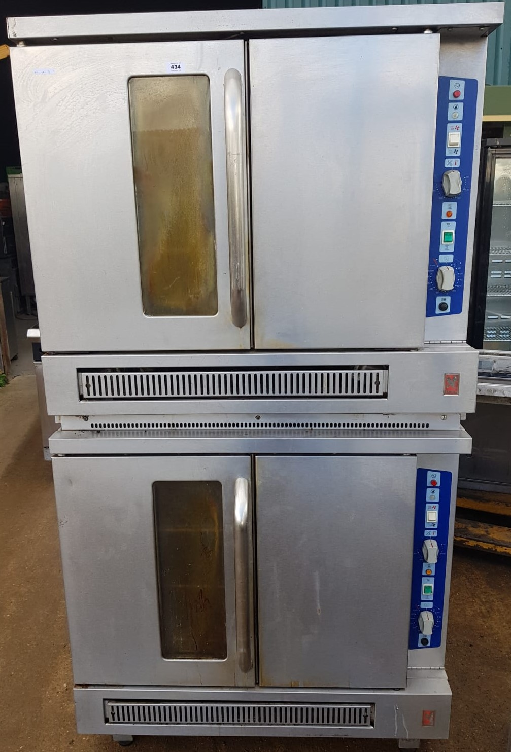 FALCON Stacked Pair G7208/2 Gas Convection Ovens – CLEARANCE ITEM