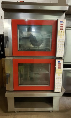 TOM CHANDLEY TC4C Stacked Electric Bake Off Convection Ovens with Condense Hood