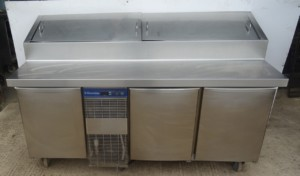 ELECTROLUX 3 Door Bench Fridge with Saladette