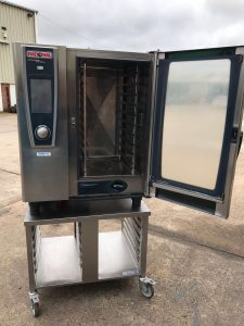 RATIONAL White Efficiency Gas 10 Grid Combi with Stand