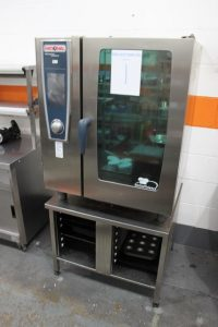 RATIONAL White Efficiency Electric 10 Grid Combi with Stand