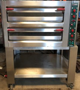 CUPPONE Twin Deck Electric Pizza Oven with Stand