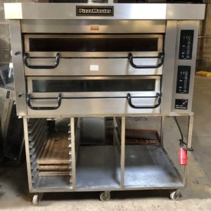PIZZAMASTER PM700 Twin Deck Electric Pizza Oven with Stand