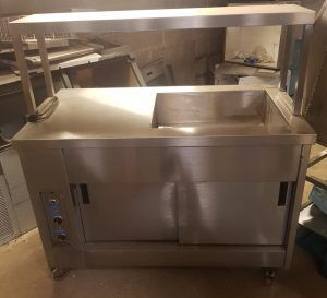 MOFFAT Heated Chef Pass with Half Bains Marie & Single Heated Gantry