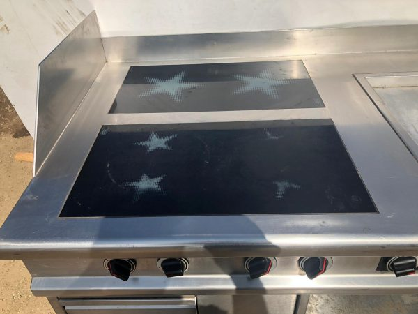 MENU SYSTEM Induction Hob with Integrated Electric Griddle