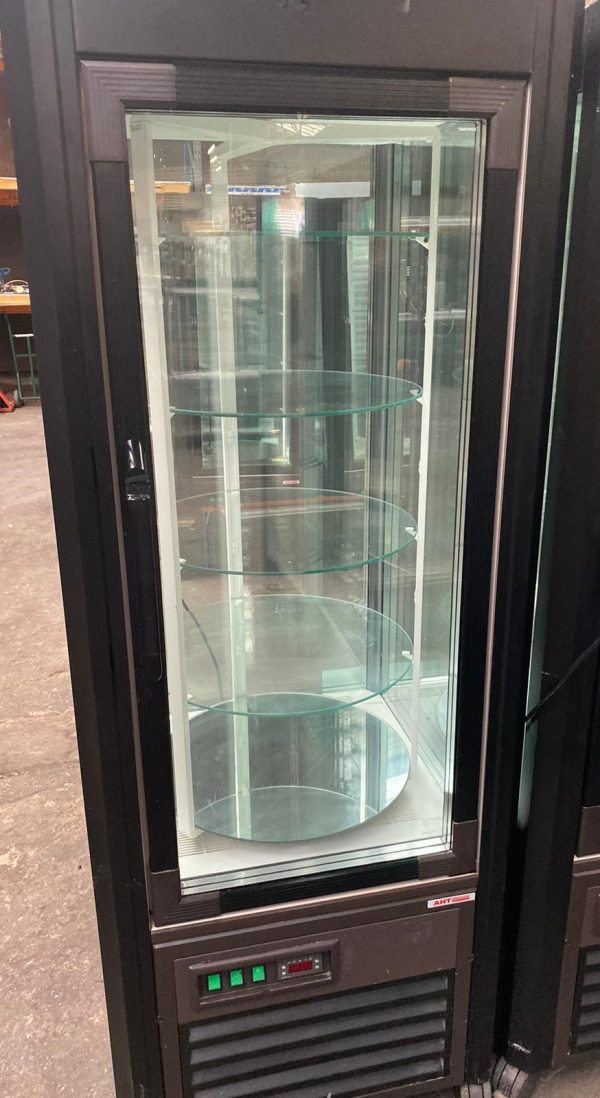 AHT Rotating Chilled Cake Display with LED Lighting
