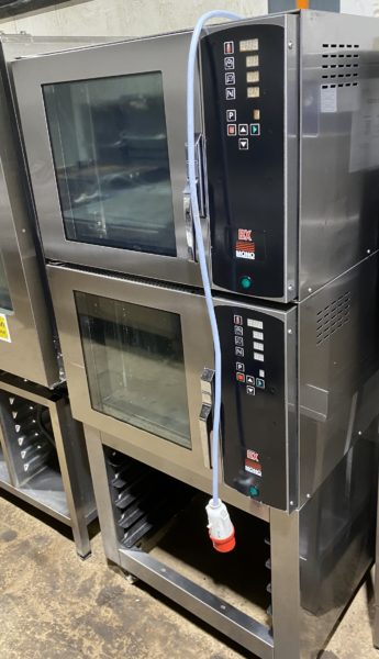 MONO stacked pair BX Bake Off Convection Ovens with Stand