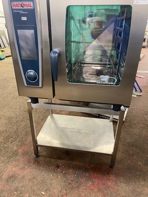 RATIONAL White Efficiency Electric 6 Grid Combi with Stand