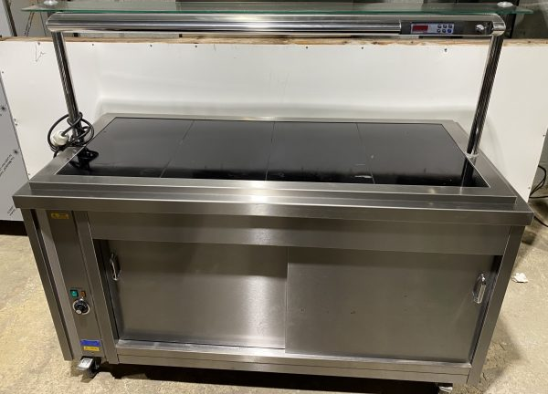 CED Fabrications Glazed Ceramic Heated Servery with Hot Cupoboard