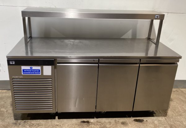Foster G2 3 Door Bench Fridge with Gantry 2