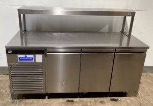 FOSTER G2 3 Door bench Fridge with Single Heated Gantry