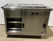 LINCAT 3 Well Heated Servery with Hot Cupboard – Immaculate
