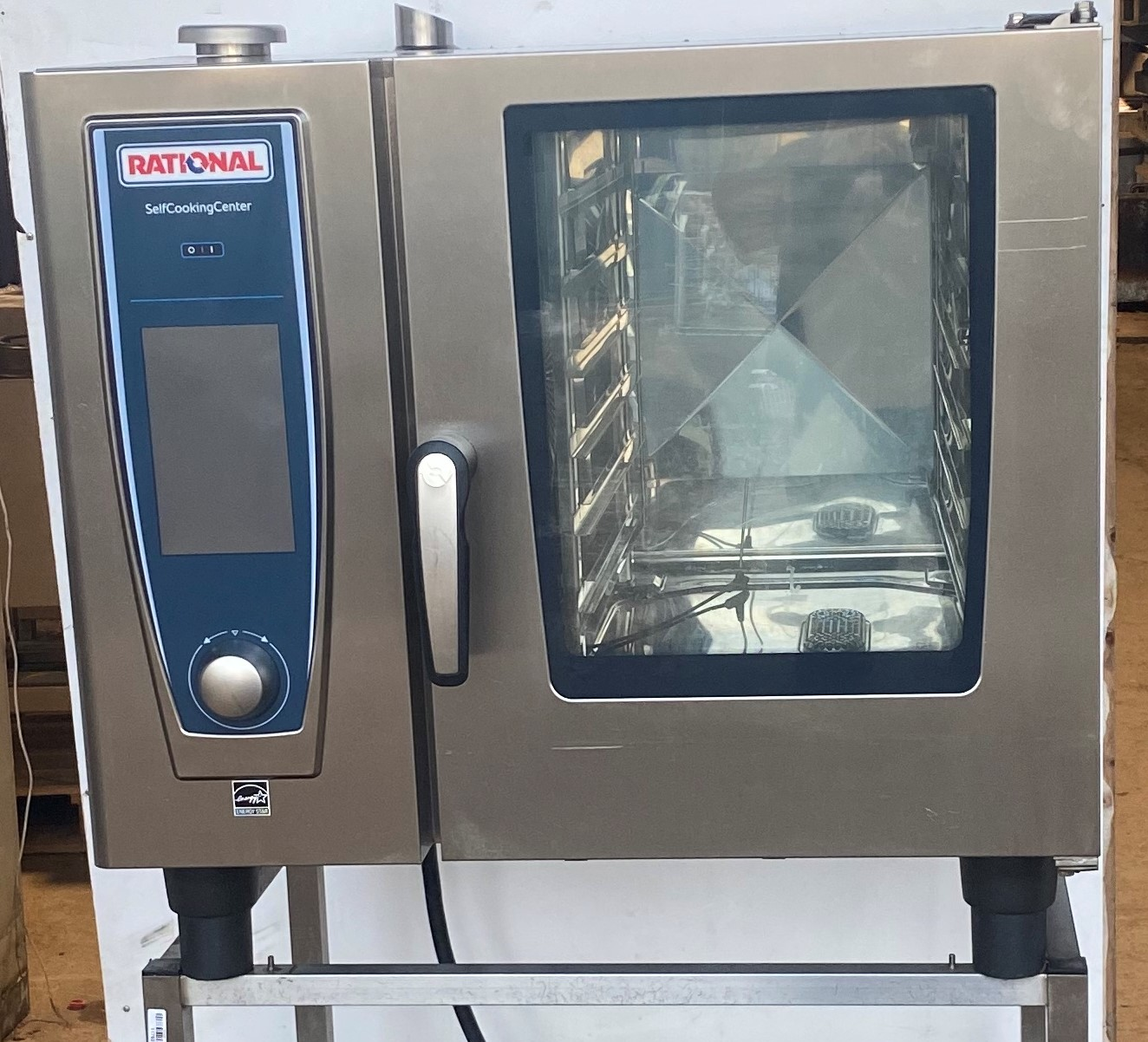 RATIONAL ESP Self Cook Centre Single Phase 6 Grid Combi with Stand.