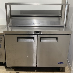 ATOSA 2 Door Bench Saladette Fridge