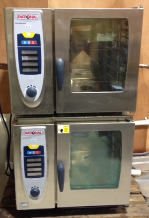 RATIONAL SCC  Stacked 6 Grid Electric Combi Ovens