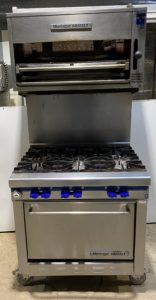 MONATGUE Grizzly 6 Burner Range, Splash Back & Salamander Grill – Clearance Item