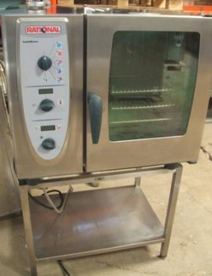 RATIONAL Combi Master Single Phase Electric 6 Grid Combi Oven with Stand