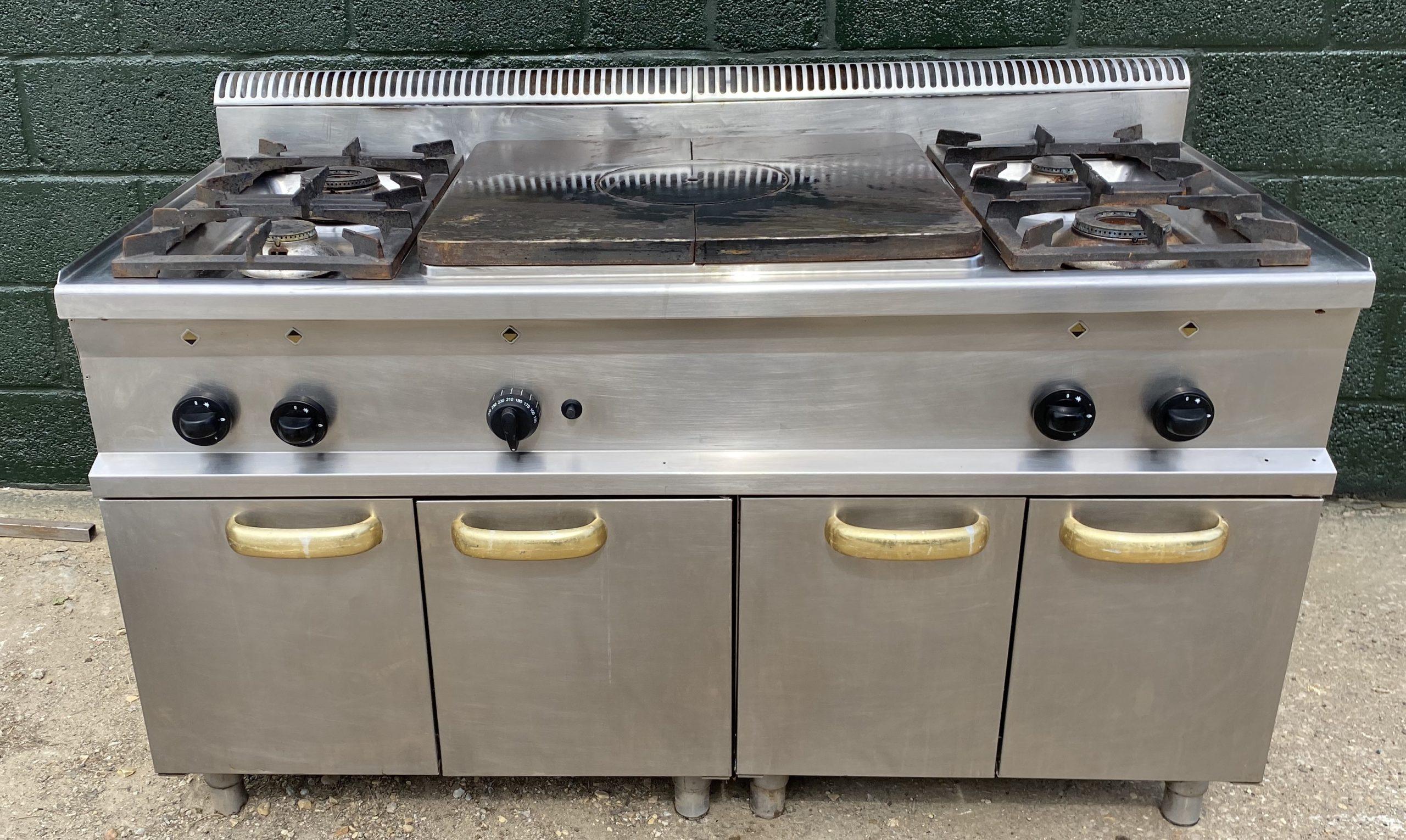 Hobart Solid Top & 4 Burner with Ambient Storage